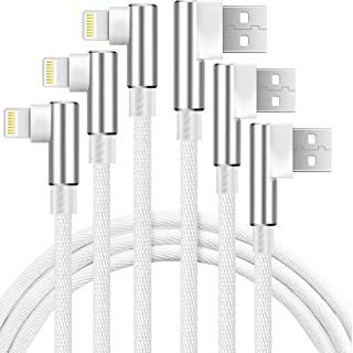 Boost 6FT Phone Charger Cable, 3-Pack 90 Degree Right Angled Data Line USB Chargers Ultra Gaming Angle Cord Compatible wit...