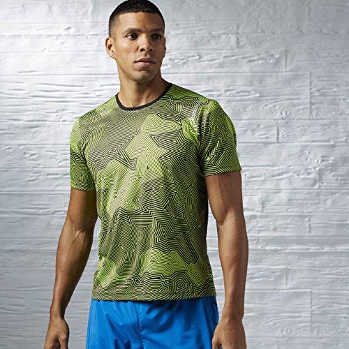 Reebok RE SS TEE - Camiseta para hombre, color gris, talla M