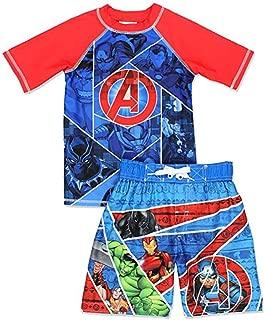 Superhero Boy's Swim Trunks and Rash Guard Set (Little Kid/Big Kid)