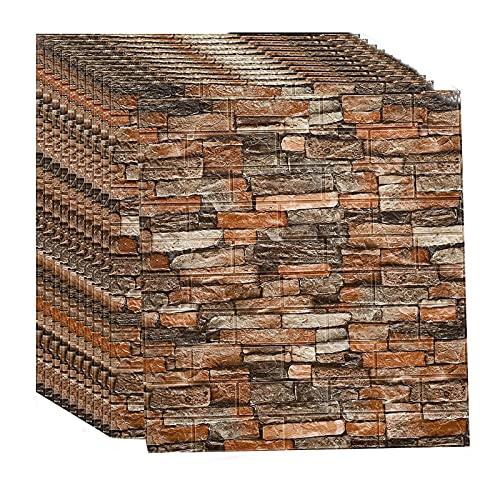 HJRD 3D Papel Tapiz de ladrillo, Autoadhesivo de ladrillo Pared Adhesivos Paneles Impermeables, Fondo, TV De Dormitorio, DecoracióN De Paredes, Papel Tapiz, 70×77cm(Size:10pc)