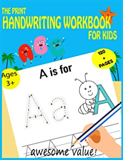 The Print handwriting Workbook for Kids: Improve Your Handwriting with Fun Animal Facts, and coloring pages.
