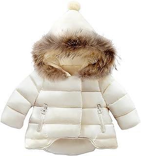 Odziezet Niña Abajo Chaqueta Abrigos Plumas Bebe Plumifero Nieve Ropa Invierno Caliente con Capucha de Pelo 6 Meses-7 años