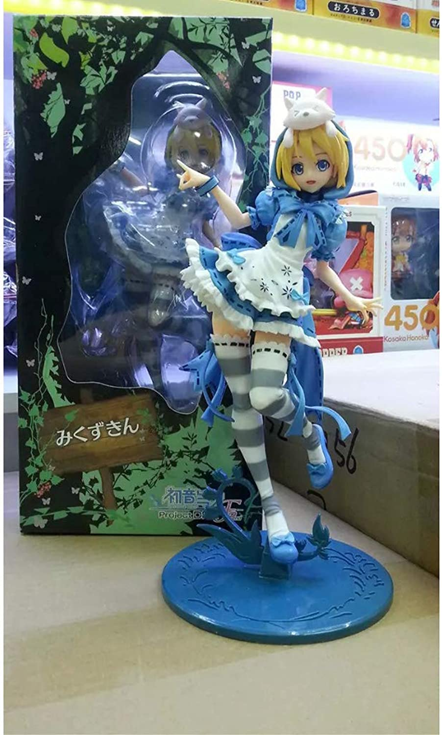 Toy Figurine Toy Model Anime Character Crafts Decorations Birthday Gift 23CM SYFO (color   bluee)