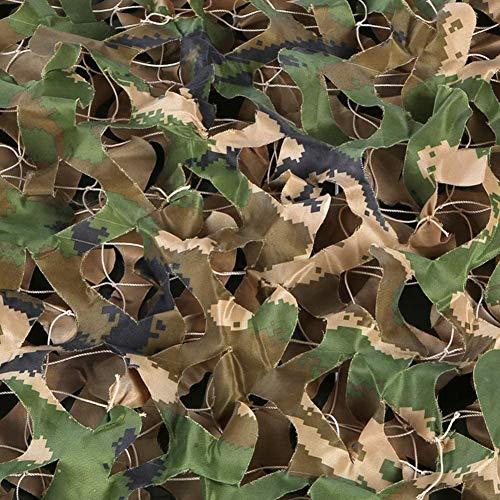 Filet de camouflage de visière extérieure, Camo Netting, Net De Camouflage De Camouflage Décoratif, Couverture Filet De Camouflage Forestier, Pour Les Fêtes De Camping En Plein A(Size:2×10m,Color:UNE)