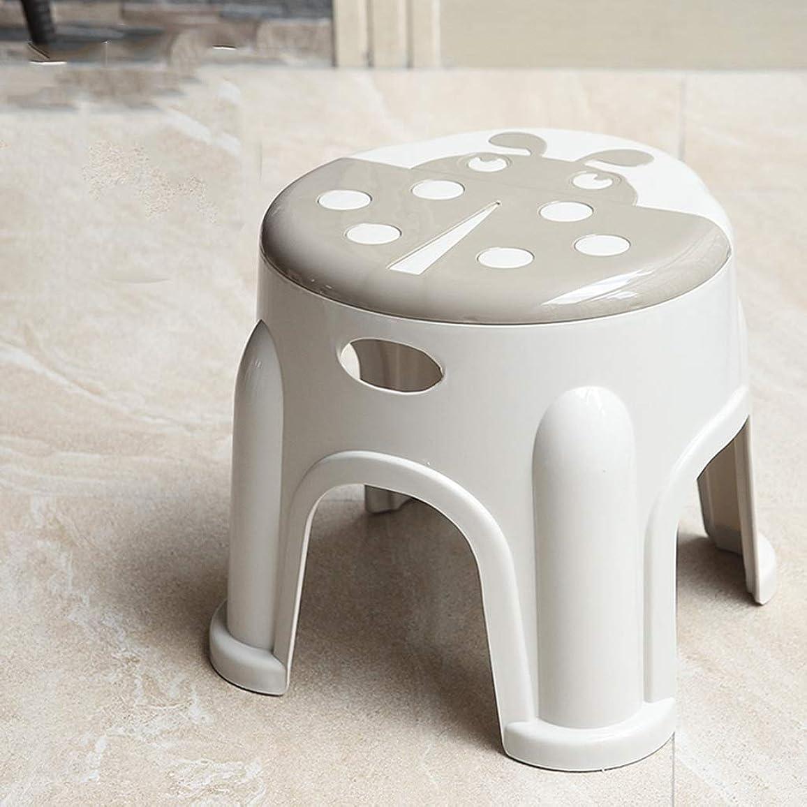 好意ねじれ打倒XJLXX 家庭用厚手のプラスチックの靴のベンチの子供漫画の小さなスツールのリビングルームのダイニングテーブルのスツール ソファースツール (Color : Brown)