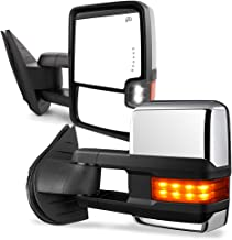 YITAMOTOR Towing Mirrors Compatible for Chevy GMC, Power Heated LED Turn Arrow Signal Light Reverse Lights, for 2008-2013 Silverado Sierra All Models, 2007 Silverado Sierra New Body Style