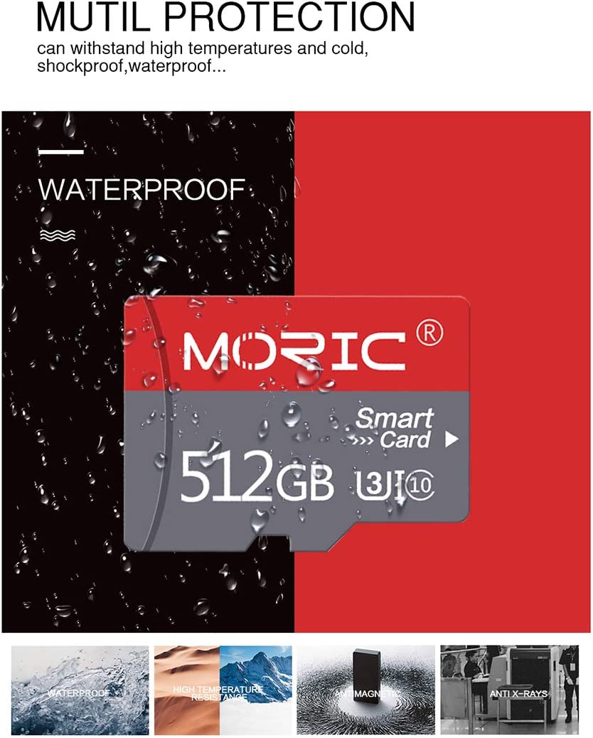 512GB Micro SD Card with Adapter High Speed SD Card for Class 10 Memory Card for Android Smartphone Digital Camera Tablet and Drone MicroSD (512GB)