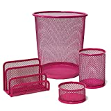 Plus Office CQY-3172-PK - Set de escritorio, color rosa
