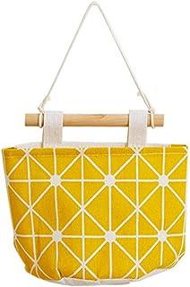 Snaro 1 pcs Cesta Almacenamiento de Lino Multifuncional Artículos de tocador Impermeable Hanging Storage Bag Plegable Cest...