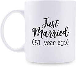 51st Anniversary Gifts - 51st Wedding Anniversary Gifts for Couple, 51 Year Anniversary Gifts 11oz Funny Coffee Mug for Couples, Husband, Hubby, Wife, Wifey, Her, Him, just married