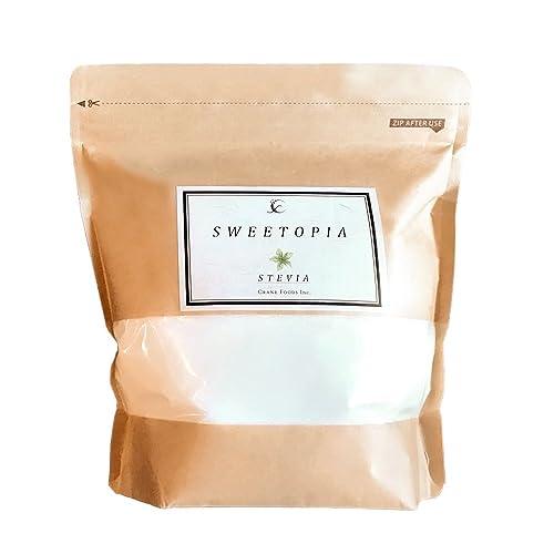 CraneFoods スイートピア ステビア 800g [100%天然由来] カロリーゼロ 糖類ゼロ (砂糖の3倍の甘さ) ロカボダイエット ステビア × エリスリトール