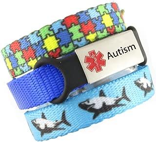 3 Bracelet Value Pack   Autism, Medical Alert Bracelets   Choice of Fun Designs   Adjustable up to 6.5