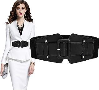 Stretch Belts For Women Luxury,VITORIA'S GIFT Women Skinny Dress Belt For Ladies Fashion Elastic Waist Band Belts Buckle