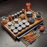Jingdezhen Purple Clay Kung Fu Juego de té Vasos Taza de té, Infusor de sopera,...
