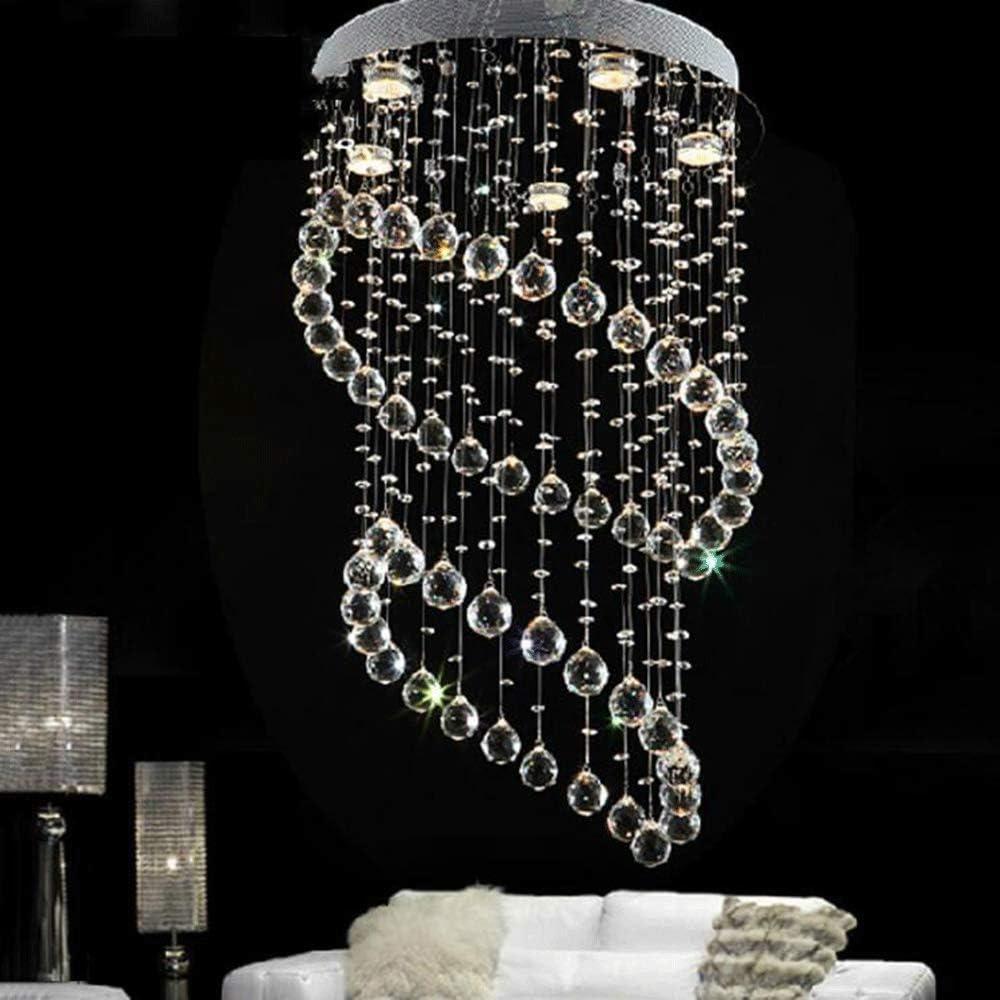 Xajgw lampadario moderno k9 cristallo goccia di pioggia