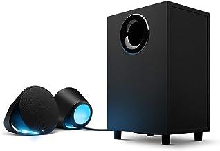 Logitech G560 PC-Gaming-Lautsprecher mit DTS:X Ultra Surround Sound, Spielbasierter..