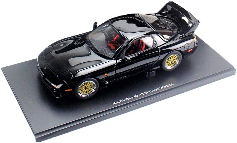 artículos novedosos GAOQUN-TOY 1 1 1 18 Mazda RX7 FD Modelo de Coche de aleación de simulación Adornos de Metal de Juguete (Color   Negro, Tamaño   25cm11cm7cm)  barato