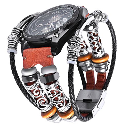 Gear S3 Band Orange,Leder Samsung S3 Frontier/Classic armband,Smart Armband Ersatz Uhrenarmband