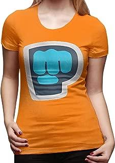 Women's Pewdiepie Merch Tee Shirts T Shirt T-Shirt Short-Sleeve Round Neck Cotton Tshirt