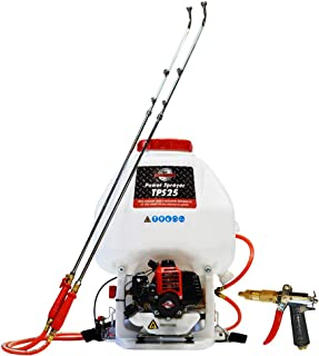 Tomahawk 6.6 Gallon Gas Power Backpack Sprayer 435 Pressure for Insecticide Fertilizer Bugs Weeds Mosquitoes and Ticks with Foundation Attachment