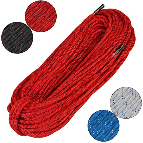 ALPIDEX Seil Statikseil EN1891 - Länge 30 m/Durchmesser 9mm Rot
