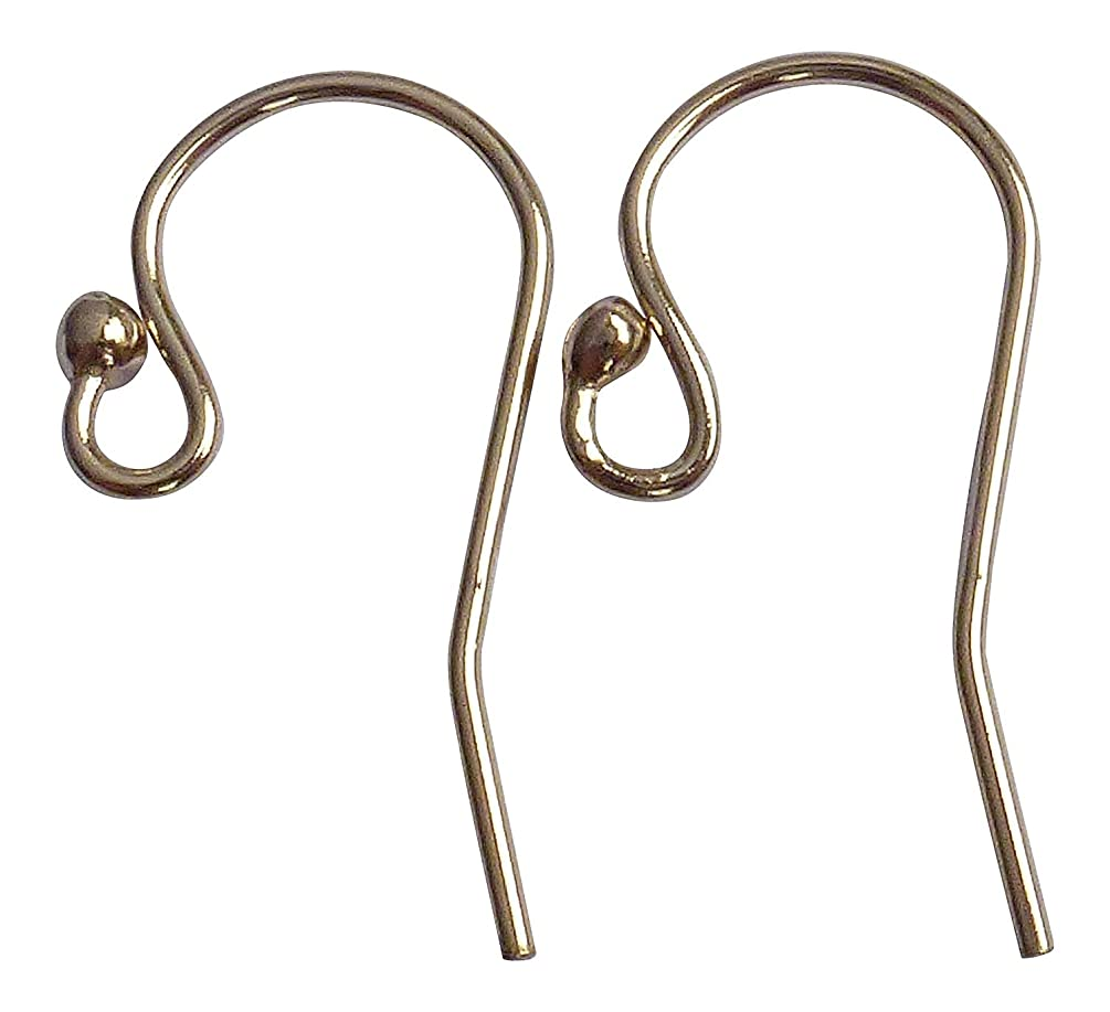 14/20 Gold Filled Heavy Earwire with 2mm Ball End 3 Pairs 12.1x20mm, 21gauge Wire