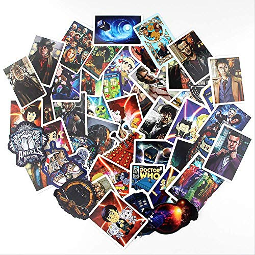 JUNZE Doctor Who Sticker Suitcase Skateboard Refrigerator Notebook Cartoon Decoration Pvc Cartoon Sticker 40Pcs