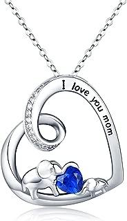 Elephant Jewelry, Sterling Silver Lucky Mini Elephant Earrings Hypoallergenic Necklace Gifts for Women Men Teen