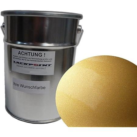 Lackpoint 0 5 Liter Spritzfertig Wasserbasislack Candy Gold Metallic Autolack Auto