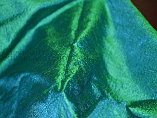 Raw Silk Fabric Peacock Color Indian Dupioni Silk for Wedding Dresses 44