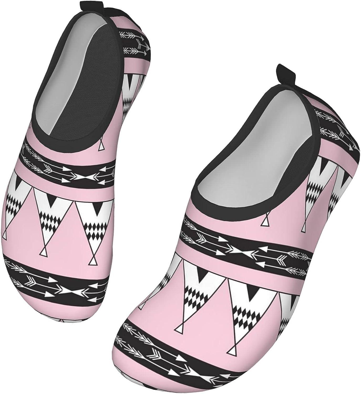 Boho Arrow Water Shoes for Womens Mens Barefoot Quick-Dry Aqua Socks for Beach Swim Surf Yoga Exercise New Translucent Color Soles