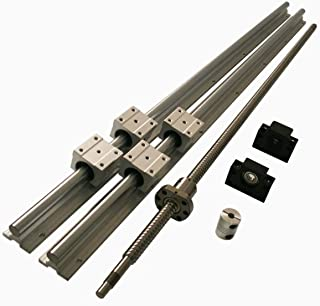 Hezukyp CNC SBR16 Support Rail RM1204 ballscrew 400mm Linear Motion Kit