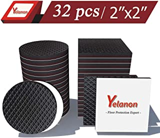 Yelanon Non Slip Furniture Pads 32 pcs 2'' Furniture Pads Rubber Feet Hardwood Floors Protection Self Adhesive Anti Scratch Chair Leg Floor Protectors Furniture Grippers for Keep in Place