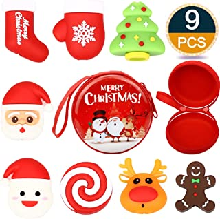 RHCPFOVR 9PCS Christmas Cable Bites Storage Bag,Various Animal Cable Cord Data Line Cell Phone Accessories Protects Creative
