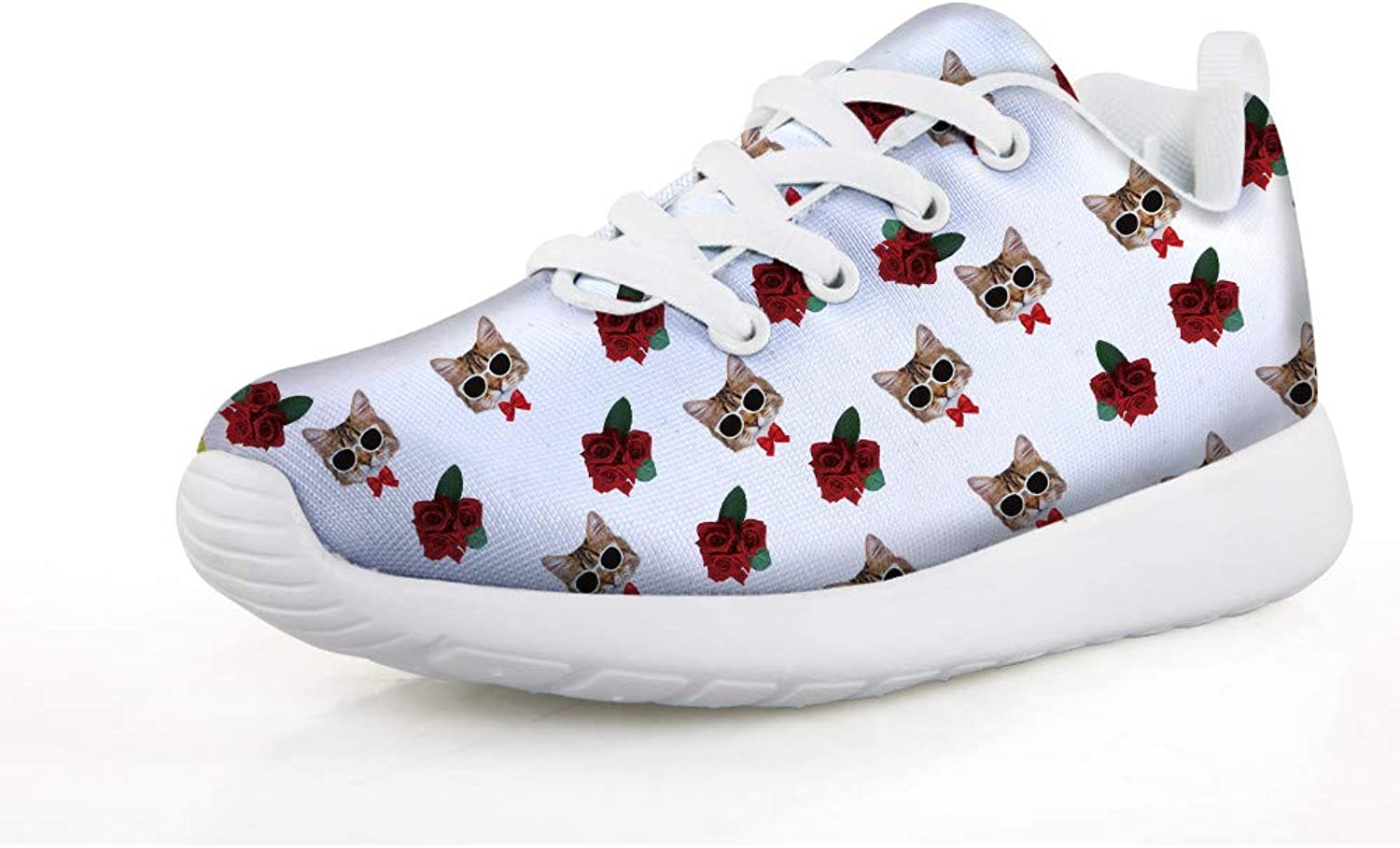 Chaqlin Fashion Sneakers Outdoor Kids shoes for College Footwear Cute Kitten Designer Multi colord Gift