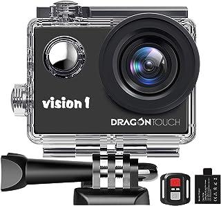 Dragon Touch Action Cam 1080P Fotocamera Subacquea Impermeabile 30M Sott'Acqua Action Camera Telecomando - Vision 1