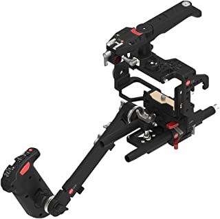 JTZ DP30 JL-JS7 Camera Cage Rig with 15mm Rail Rod Baseplate and Top Handle+Shoulder Pad and Electric Handle Grip for SONY A6000 A6300 A6500 Dslr Cameras