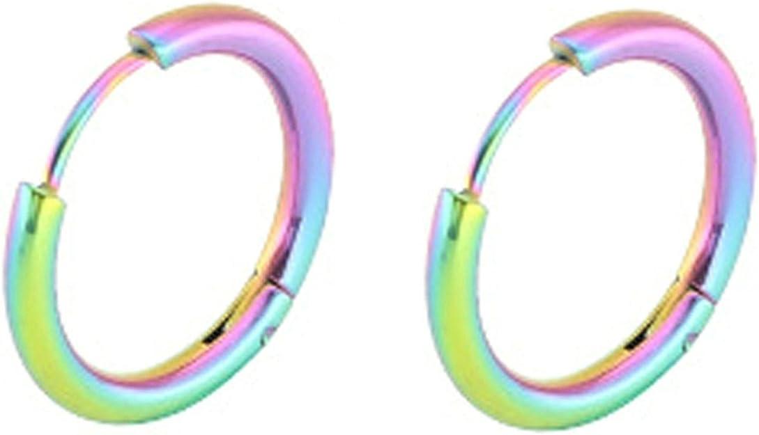Beydodo Boucles doreilles Femme Clip Boucle doreille Inoxydable Cercle Rond 10 12 14 16 18 Mm