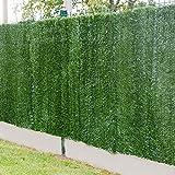 Gardenode Haie Artificielle Bold en Rouleau de 3 mètres - H 1m20-129 brins