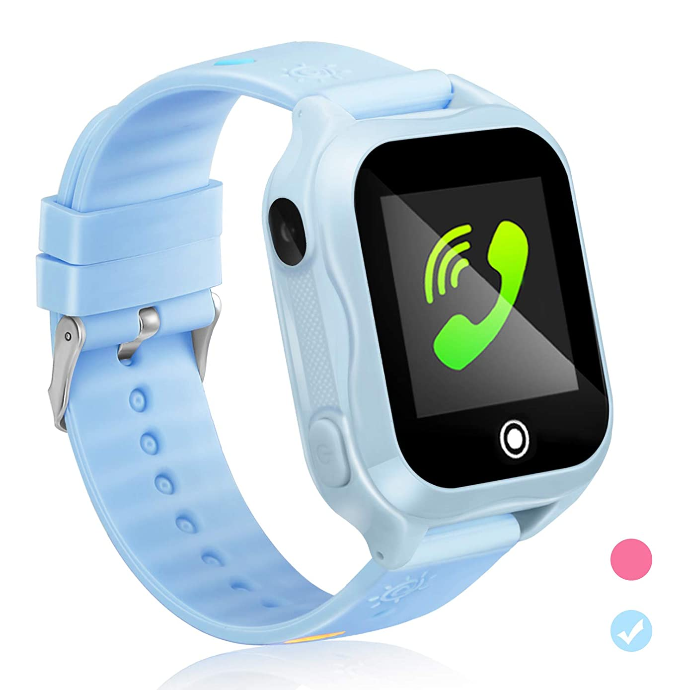 Kids Smartwatch Kids Smart Watch Phone with GPS Waterproof and App Remote Control Unlocked Kids SmartWatches Phone with Voice Chat Touch Screen Camera Compatible with Android and iOS