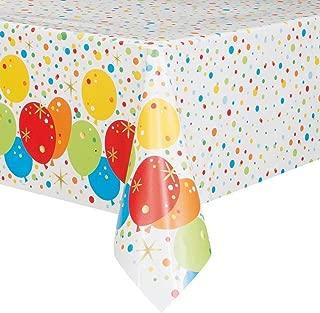 Unique Foil Glitzy Rainbow Happy Birthday Plastic Tablecloth, 84