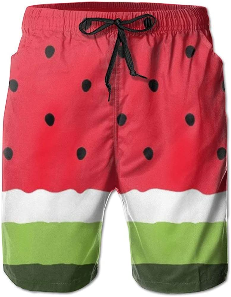 ODAWA Watermelon Mens Short Swim Trunks Sports Beach Swimming Board Shorts Mesh Lining