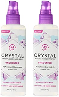 Crystal Mineral Deodorant Spray - Unscented Body Deodorant With 24 Hours Odor Protection, Non-Staining & Non-Sticky, Alumi...