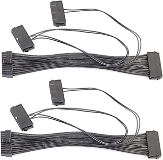 vanpower 2pcs ATX 24pin Quad 3 PSU fuente de alimentación de placa base cable adaptador