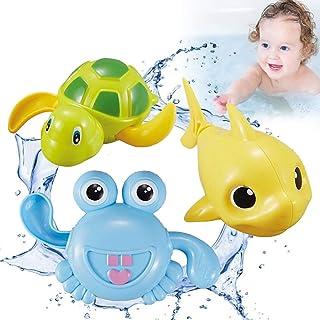 Coxeer 3PCS Kids Bath Toy Creative Interactive Shower Toy Bathtub Toy for Children