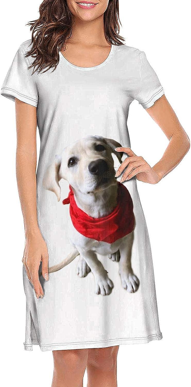 XIAOWUGO Women's Cute Sleep Shirt Sleepwear Night Dress Short Sleeve Nightshirts Nightgown