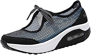 YOcheerful Women's Nurse Shoes Casual Shoes Lace-up Flat Shoes Sports Running Shoes