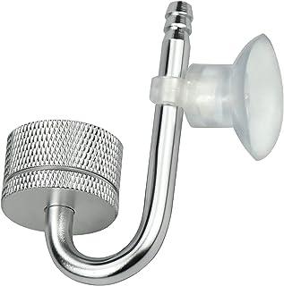 Argento Zerodis Atomizzatore CO2 per Acquario Atomizzatore per Diffusore di Anidride Carbonica in Lega di Alluminio con Ventosa per Acquario