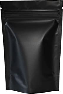 """100PCS Matte Double-Sided Colored Stand-Up Resealable QuickQlick Bags (10x15cm (4x6""""), Black)"""