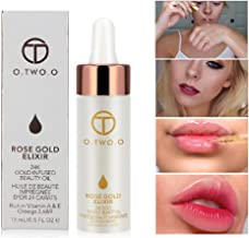 GARYOB 24k Rose Gold Elixir Oil 15ml, Makeup Oil before Foundation Primer, Moisturizing Face Skin Beauty Face Oil